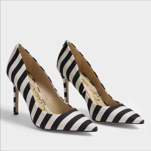 NEW Sam Edelman Hazel black & ivory stripe pumps